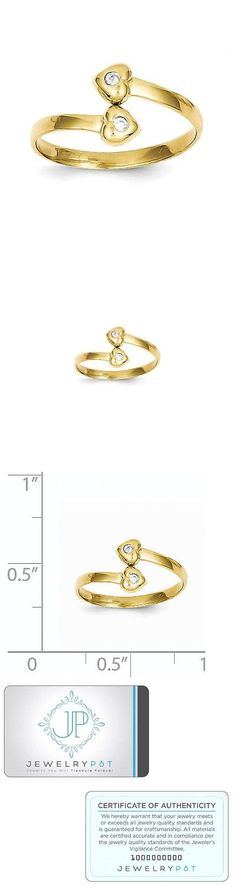 Toe Rings 140010: 10K Yellow Gold Cz Toe Ring. Metal Wt-0.7G -> BUY IT NOW ONLY: $36.99 on eBay!