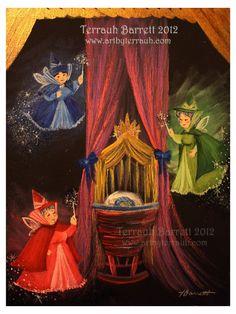 Three Good Fairies - Flora, Fauna and Merryweather - Sleeping Beauty