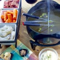 Surf and Turf Fondue for Romantic Date Night Dinner