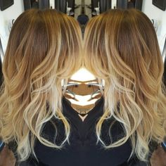 Blonde caramel honey balayage