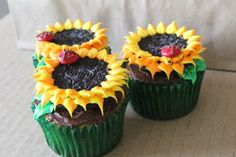 Fun Spring or Summer cupcake to serve.