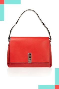 30 Non-Black Handbags You Can Wear Every Day #refinery29  http://www.refinery29.com/colorful-handbags#slide-2  ...or a pop of red....