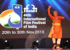 The renowned Kathak dancer Pandit Birju Maharaj performing at the inaugural ceremony of IFFI 2013. #IFFI2013