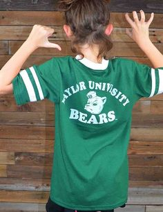 Throw it way back in this retro Baylor University tee. Perfect for old souls and anyone else who wants to support the Bears!