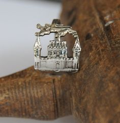 bordeaux ring france ring silver plate ring by TheDishandSpoon
