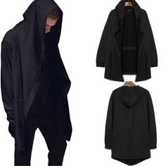 Check it on our site 2017 Europe and the United States original design men 's hooded spring and autumn in the long hooded cardigan cloak coat black just only $17.91 with free shipping worldwide  #hoodiessweatshirtsformen Plese click on picture to see our special price for you