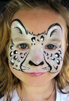 snow leopard face paint - Google Search