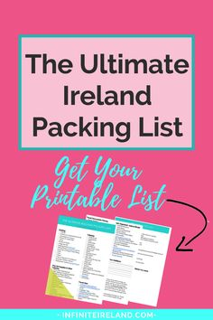 The Ultimate Ireland Packing List - Are you about to travel to Ireland for the first time? Or, are you a seasoned traveler, but unsure of what to pack for your trip to Ireland? I have become a master packer! Get my ULTIMATE Ireland Packing List here. Packing List For Travel, Europe Travel Tips, Travel Guides, Travel Destinations, Budget Travel, Packing Tips, Travel Hacks, Traveling Tips, Ireland Vacation