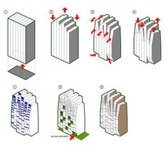 Mixed Use Tower Concept   Form and Function Diagram