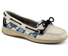 These classy Angelfish Sperry Topsiders, with blue plaid sides, are now on sale for only $69.90 www.shoezen.com