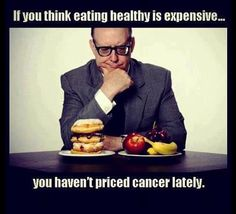 I get this all the time - people saying eating vegan is expensive. The documentary Forks Over Knives has a wonderful doctor who states open heart surgery costs one hundred thousand dollars US so you tell me what is more costly. #eatingyoualive