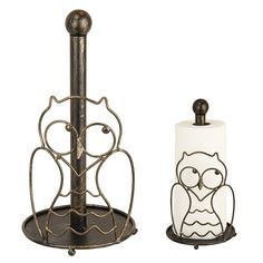 Animal Rescue - Pet Shop - Wiry Owl Paper Towel Holder
