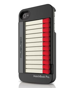 Black Matchbook Pro Case for iPhone 4S by Musubo