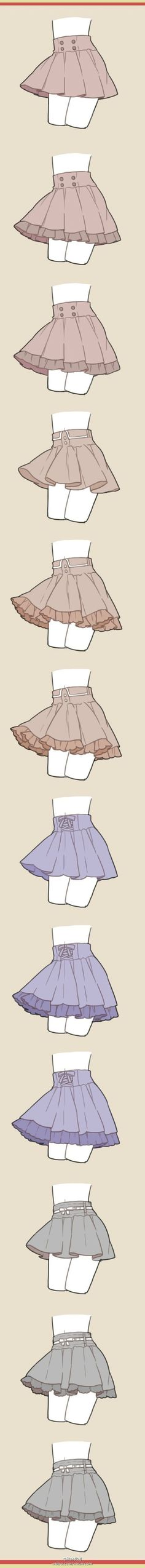 How to draw skirts - clothing drawing reference Drawing Reference Poses, Anatomy Reference, Design Reference, Drawing Techniques, Drawing Lessons, Drawing Tips, Clothing Sketches, Poses References, Drawing Clothes