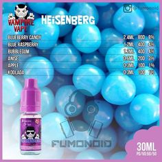 Vampire Vape, Heisenberg   By All of these E-Liquids and more @ http://TeagardinsVapeShop.com or look for Teagardins Vape Shop in google play store today to get all the Newest vape products right on your cell phone.