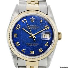 Rolex Datejust 16233 Two Tone Blue Dial Jubilee Watch Boca Raton FL US - JamesEdition.com