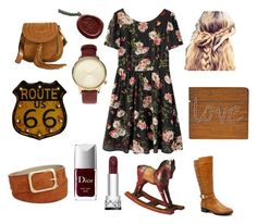 """""""Country side outfit ... ❤️"""" by dulce-rmz on Polyvore featuring moda, INC International Concepts, Chloé, Komono, Christian Dior, Dot & Bo y country"""