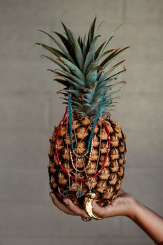 Blinged up pineapple.