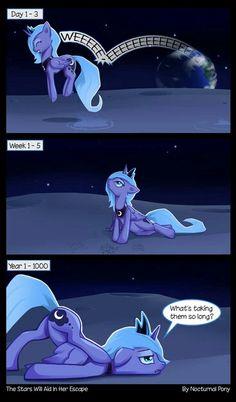 Princess Luna is bored.