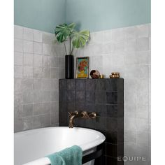 Black Tiles, Grey Tiles, Bathroom Wall, Master Bathroom, Bathroom Inspo, Grey Bathrooms Designs, Tiles Direct, Grey Backsplash, Interior Photo