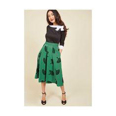 Vintage Inspired Long Full B. Jones Style Midi Skirt (6,095 INR) ❤ liked on Polyvore featuring skirts, apparel, bottoms, full skirt, green, long velvet skirt, vintage full skirt, green velvet skirt and pleated midi skirt