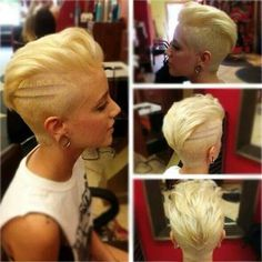 Wanna spice up your style with these modern and stylish haircuts? Here are the images of Amazing Short Modern Haircuts that you will love, check them out and. Funky Short Haircuts, Modern Haircuts, Short Hair Cuts, Short Hair Styles, Blonde Undercut Pixie, Fade Haircut, Great Hair, Hair Today, Hair Dos