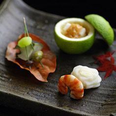 kaiseki - I just really like the lime used as a serving dish.