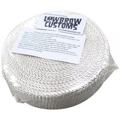 Lowbrow Customs - White Exhaust Wrap Header Tape for your custom exhaust- 2 inch x 50'