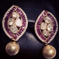 #diamond#pearl#ruby#earring