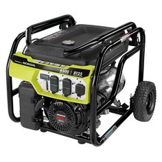 Ryobi Gasoline Powered Electric Start Portable Generator with Honda Engine is the perfect power solution on the jobsite or at home. Tri Fuel Generator, Portable Power Generator, Honda Generator, Generators For Sale, Sump Pump, Electronic Recycling, Voltage Regulator, Diesel Engine, Houses