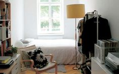 Step inside graphic designer Elvira's bright apartment in Vienna   Love that white bed linen   live from IKEA FAMILY