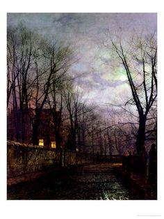 Moonlit Street Scene, 1882