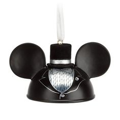 Hang Mickey's dress ear-hat ornament on the holiday tree or save it to celebrate that very special day. Find an ear-ternal soulmate in Minnie's bridal hat ornament, sold separately.
