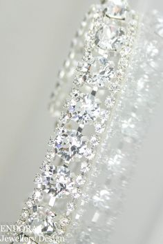 Crystal braceletswarovski braceletsilver by EndoraJewellery
