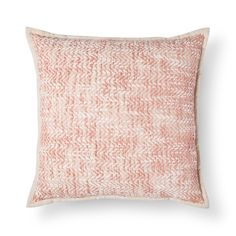 Threshold, Pink Chevron Slub Throw Pillow , Honey Peach