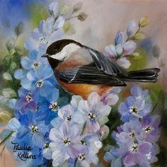"""Daily Paintworks - """"Sky Petals"""" - Original Fine Art for Sale - © Paulie Rollins"""