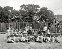"Washington, D.C., 1922. ""Fair Bros. playground."" The Little Rascals. National Photo Company Collection"