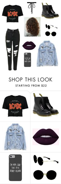 """""""Untitled #68"""" by gissellebeltre on Polyvore featuring Boohoo, Dr. Martens, Disney, Miu Miu and Joomi Lim"""