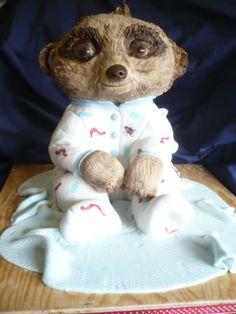 Everyones favourite baby Meerkat - Oleg - made from chocolate orange marble cake and orange/choc butter cream. Love him!!