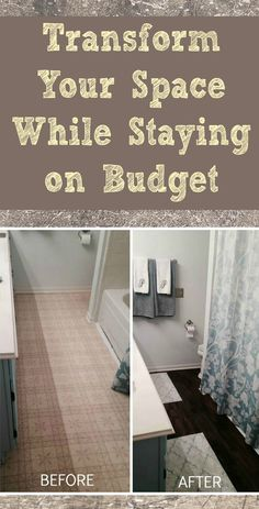 How To Install Peel And Stick Vinyl Tile That You Can Grout - Easy bathroom tiles