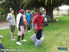 Sack Races Team Building Exercise