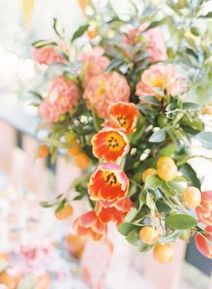 "Florals by Ipsen Botanica for Aiden's ""In the Orange Garden"" Party - styled by ELK Prints. Orange Birthday Parties, Birthday Party Decorations, Birthday Ideas, Baby Shower Themes, Baby Shower Decorations, Garden Baby Showers, Pink Martini, Pink Color Schemes, Garden Party Wedding"
