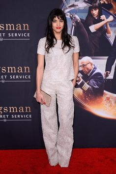 """Sofia Boutella attends """"Kingsman: The Secret Service"""" New York Premiere at SVA Theater on February 9, 2015 in New York City. Description from pinterest.com. I searched for this on bing.com/images"""