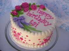 Flowers And Dots on Cake Central