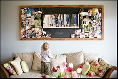 I think this is what I am going to do with our newest family pictures!  I LOVE it!
