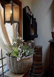 basket and lantern