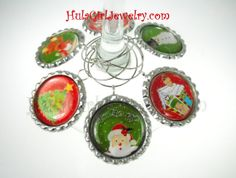 Christmas party favors wine accessories holiday by HulaGirlJewelry, $16.00