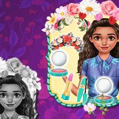 Moana Floral Crush: A princesa da Polinésia adora a moda floral e decidiu organizar uma festa temática em sua ilha. Como esperado, Moana precisa parecer perfeita, então você precisa ajudá-la a ter uma aparência fantástica. Moana, Princess Games, Disney Princess, Moda Floral, Adora, Rapunzel, Cinderella, Snow White, Fun