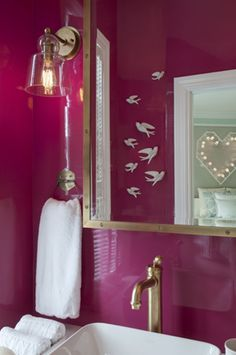 Pink Lacquer Walls | Mood & Space Design -- love the shine