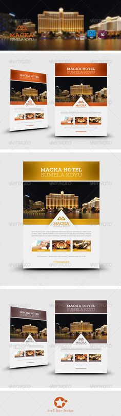 Hotel Flyer Templates #graphicriver